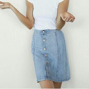 Express Karlie Kloss Denim Skirt